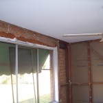 Termite damaged wall frame
