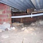 termite lead on copper water pipe