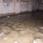 water ponding in sub-floor
